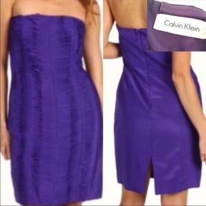 Calvin Klein Strapless Tiered Dress